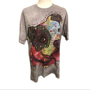 The Mountain Pit Bull T-Shirt, Grey, Size L